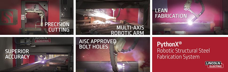 Robotic Structural Steel Fabrication Systems from PythonX
