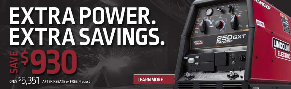 Ranger 250 GXT - $700 REBATE OR FREE PRODUCT