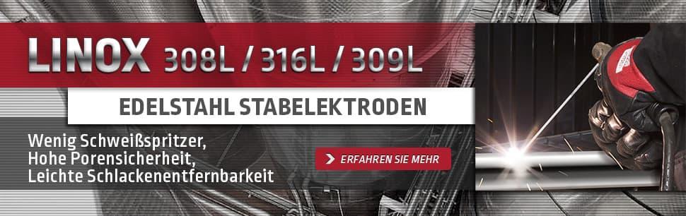 Linox Edelstahl Stabelektroden