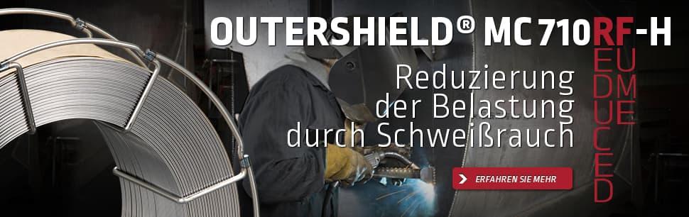 Outershield MC710RF-H zur Reduzierung der Schweißrauchbelastung beim Schweißen