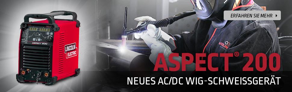 Aspect 200: Neues AC/DC WIG-Schweißgerät