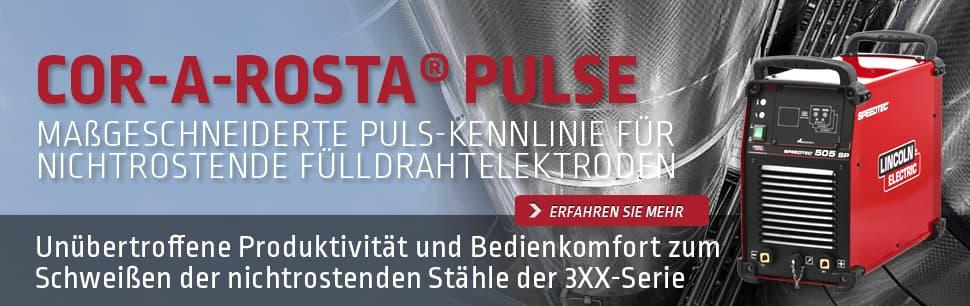Cor-A-Rosta Pulse: maßgeschneiderte Puls-Kennlinie für nichtrostende Fülldrahtelektroden