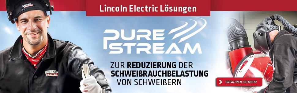 Lincoln Electric Solutions: Pure Stream zur Reduzierung der Schweißrauchbelastung von Schweißern