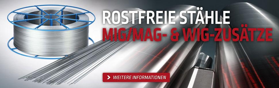 Rostfreie Stähle MIG/MAG- & WIG-Zusätze entwickelt von Lincoln Electric in Europa