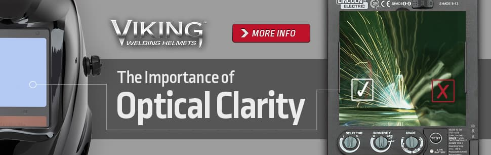 Optical clarity in welding