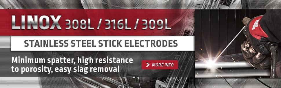 Linox stainless steel stick electrodes