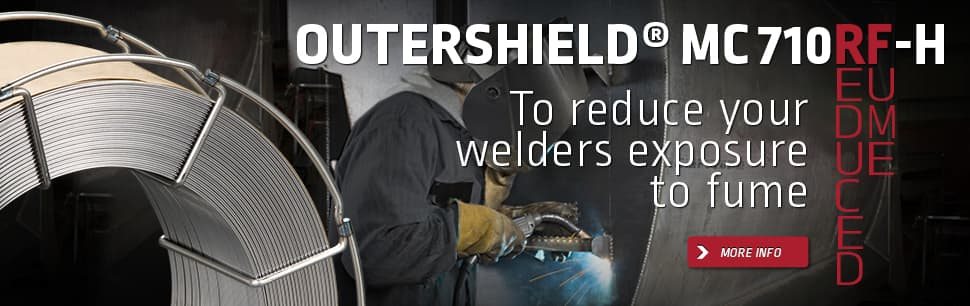 Outershield MC710RF-H to reduce welders exposure to fume