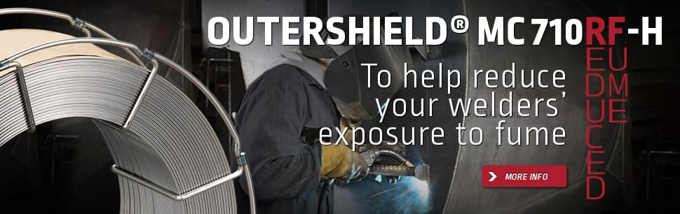 Outershield MC710RF-H to help reduce welders' exposure to fume