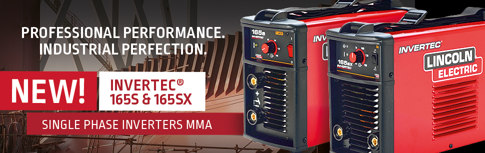 New Invertec 165S and SX single phase inverters MMA