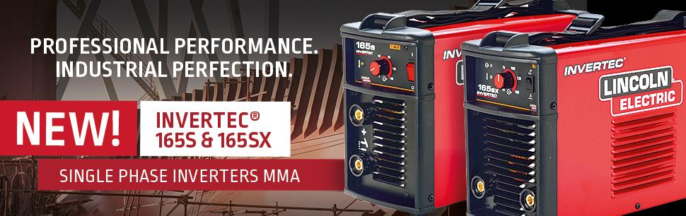 New Invertec   165S and SX single phase inverters MMA