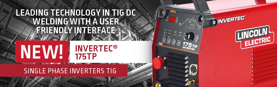 Invertec 175TP:   leading technology in TIG DC welding with a user friendly interface