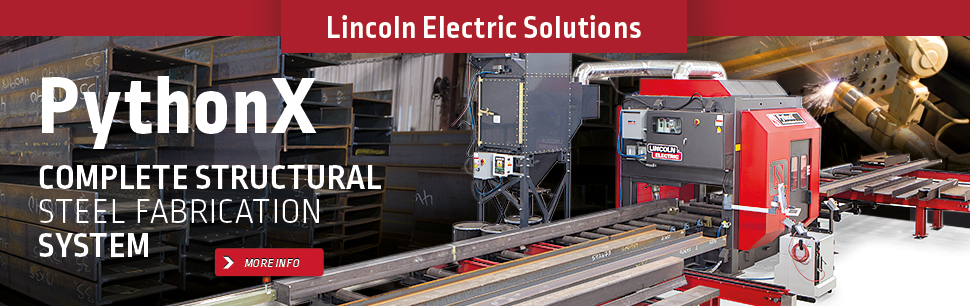 Lincoln Electric Solutions: PythonX, Complete Structural Steel Fabrication System