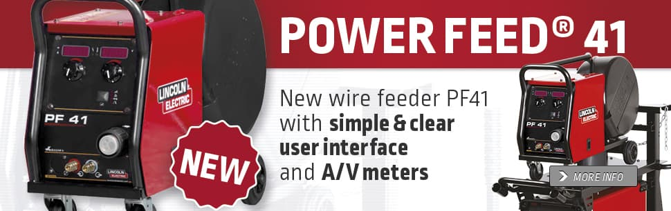 New wire feeder PF41 with simple and clear user interface and A/V meters