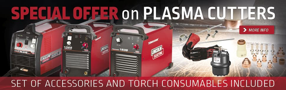 Sales promotion: special offer on plasma cutters