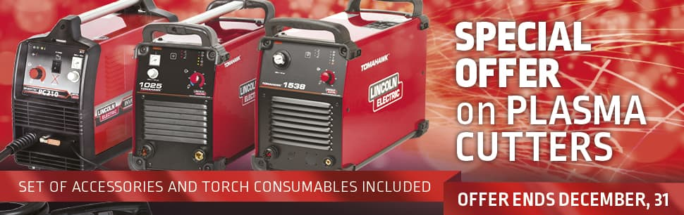 Special offer on plasma cutters ends December 31