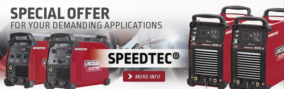 Sales promotion: Speedtec for your demading applications
