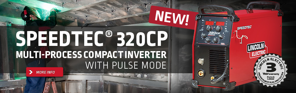 Speedtec® 320CP: new multi-process compact inverter with PULSE mode