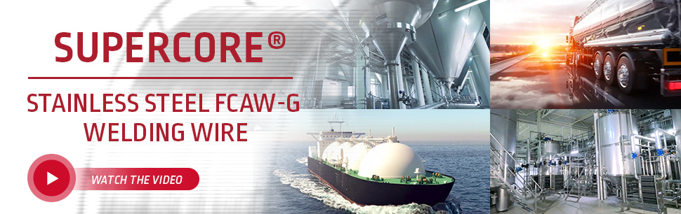 Supercore Stainless steel FCAW-G welding wire