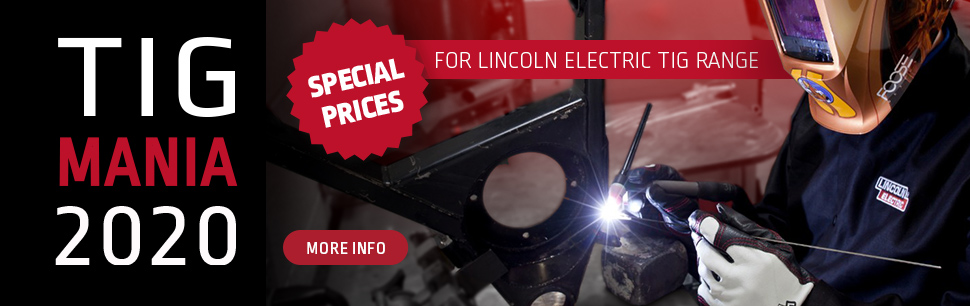 Special prices on Lincoln Electric TIG range
