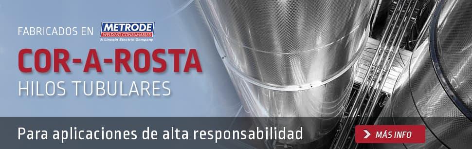 Hilos tubulares Cor-A-Rosta para aplicaciones de alta responsabilidad
