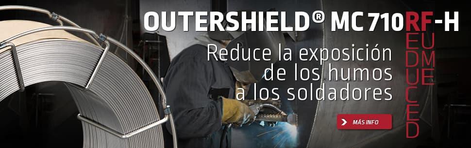 Outershield MC710RF-H para reducir   la exposición de humos a sus soldadores