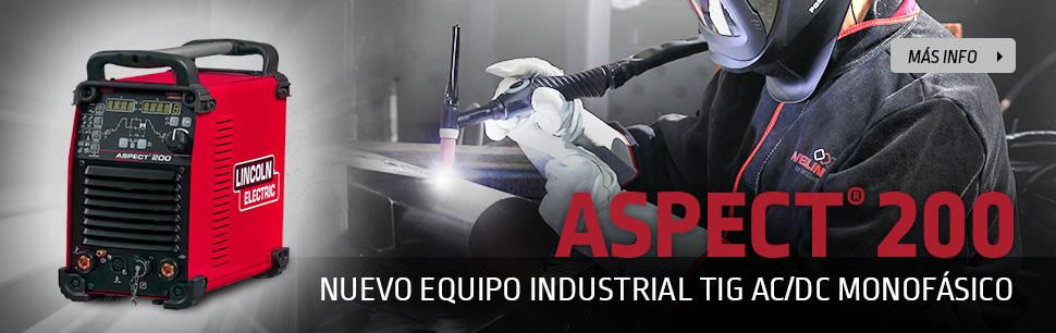 Aspect 200: Nuevo equipo industrial TIG AC/DC