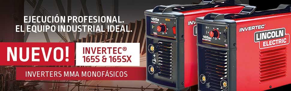 Nuevos Invertec 165S e SX inverters MMA monofásicos
