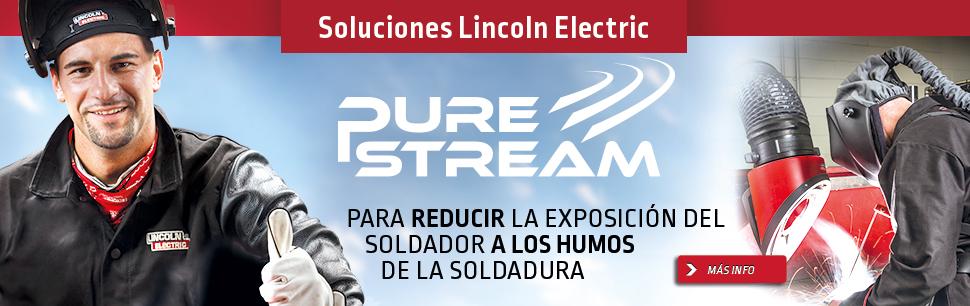 PURE STREAM ofrece: La solución global para reducir la exposición del soldador a los   humos de soldadura