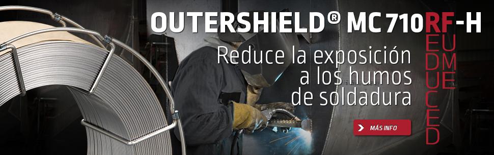 Outershield MC710RF-H REDUCE LA EXPOSICIÓN A LOS HUMOS DE SOLDADURA