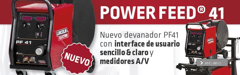 Nuevo devanador PF41 con interface de usuario sencillo & claro y medidores A/V