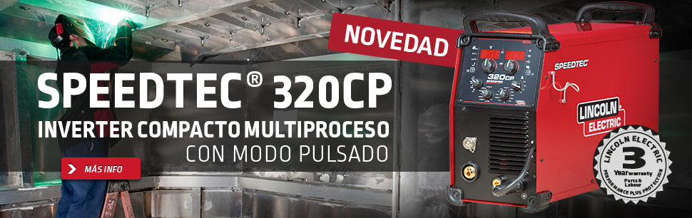 Speedtec® 320CP: Inverter compacto multiproceso con modo pulsado