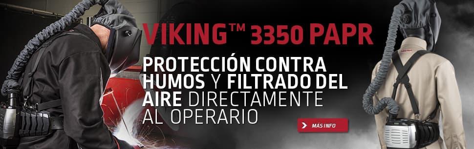 Viking 3350 PAPR: Protección contra humos y   filtrado del aire directamente al operario