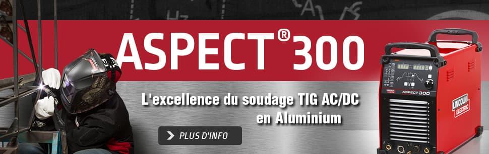 Aspect 300: L'excellence du soudage TIG AC/DC en Aluminium