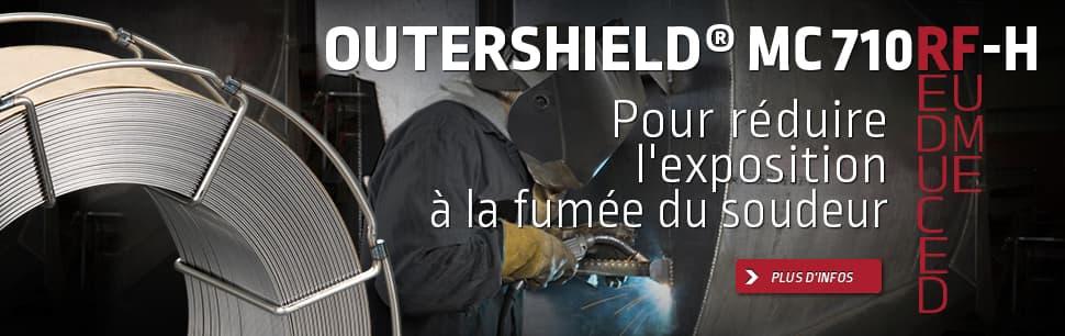 Outershield MC710RF-H pour réduire l'exposition à la fumée du soudeur