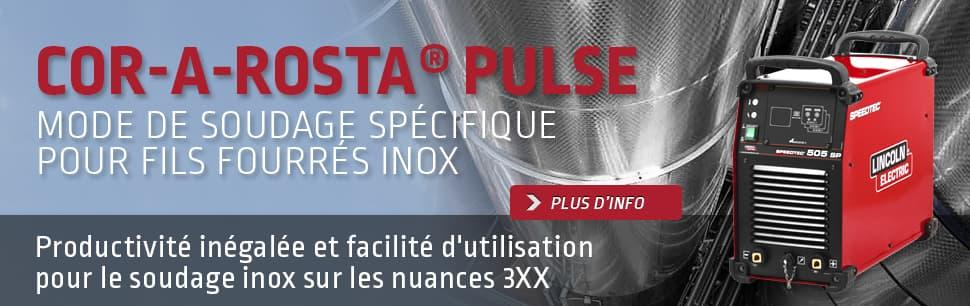 Cor-A-Rosta Pulse: mode de soudage spécifique pour fils fourrés inox