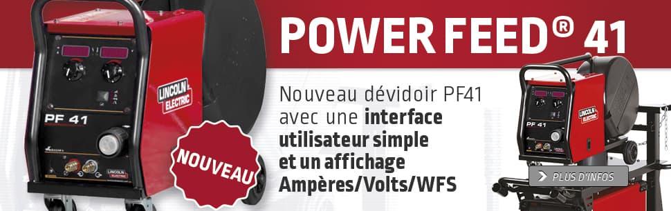 Nouveau dévidoir PF41 avec une interface utilisateur simple et un affichage Ampères/Volts/WFS