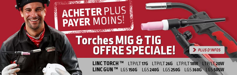 Sales promotion on MIG guns and TIG torches