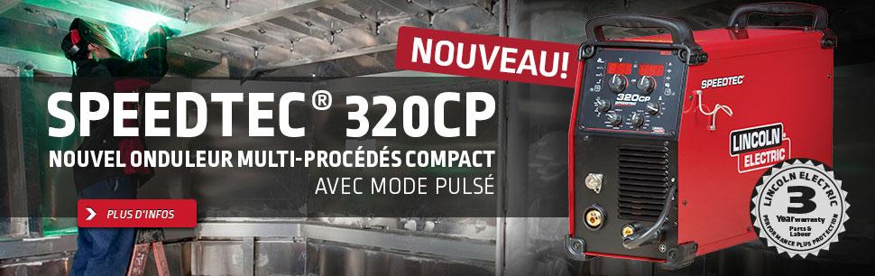 Speedtec 320CP: nouvel onduleur multi-  procédés compact, avec mode pulsé