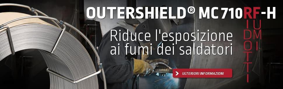 Outershield MC710RF-H: riduce l'esposizione ai fumi dei saldatori