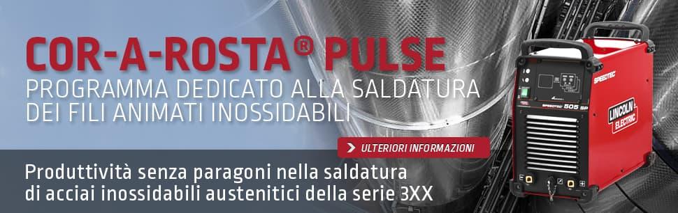 Cor-A-Rosta Pulse: programma dedicato alla saldatura dei fili animati inossidabili