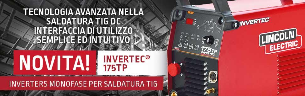 Invertec 175TP: tecnologia avanzata nella saldatura TIG DC. Interfaccia di utilizzo semplice ed intuitivo