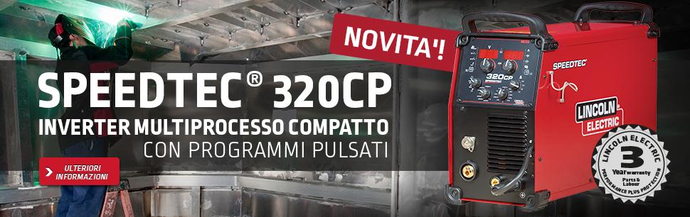 Speedtec® 320CP: Inverter multiprocesso compatto con programmi PULSATI
