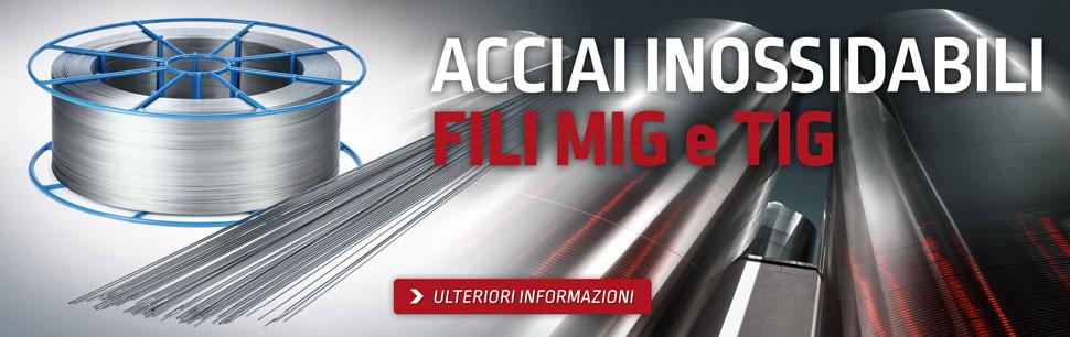 Fili MIG di elevata qualità per acciai inossidabili prodotti da Lincoln Electric in Europa