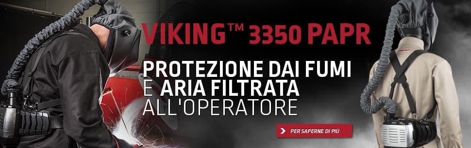 Viking 3350 PAPR: protezione dai fumi e aria filtrata all'operatore