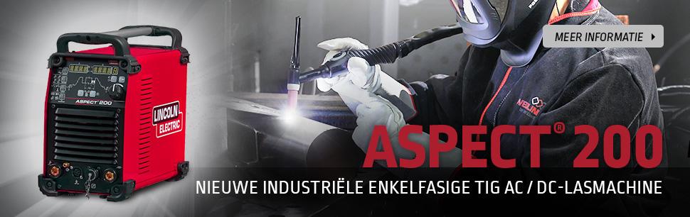 Aspect 200: Nieuwe industriële enkelfasige AC/DC TIG lasmachine