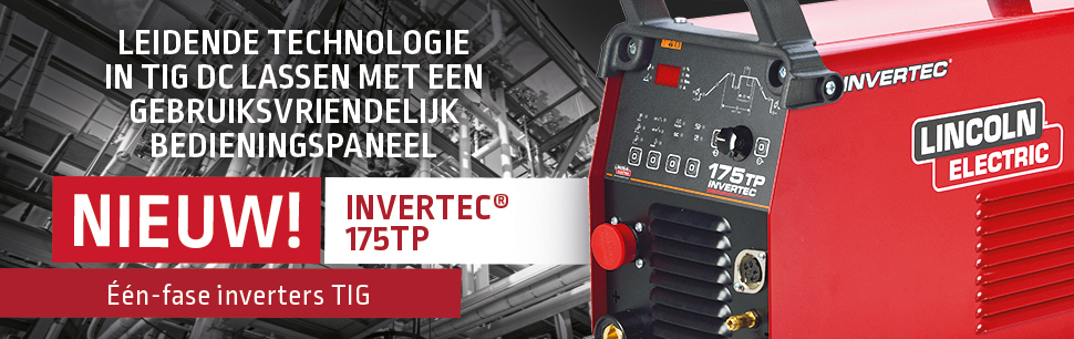 Invertec 175TP: leidende technologie in TIG DC lassen met een gebruiksvriendelijk bedieningspaneel