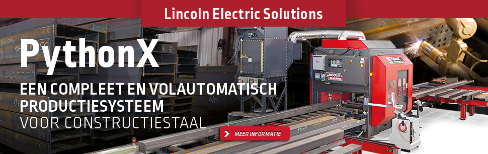 Lincoln Electric Solutions: PythonX, een compleet en volautomatisch productiesysteem voor constructiestaal