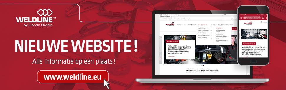 Nieuwe website www.weldline.eu