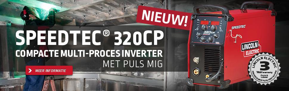 Speedtec® 320CP: Compacte multi-proces Inverter met PULS MIG