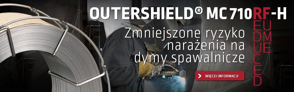 Outershield MC710RF-H: zmniejszone ryzyko narażenia na dymy spawalnicze